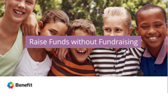 "Benefit Mobile ""Raise Funds with Fundraising"" page"