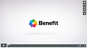 Screenshot of a Benefit Mobile video